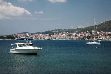 skiathos: View to Skiathos Town Greece