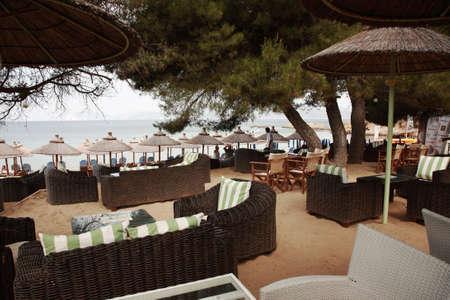 skiathos: Swanky beach bar on Banana Beach, Skiathos, Greece