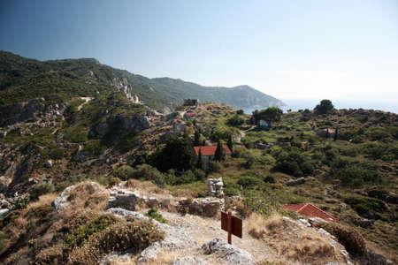 skiathos: Ruins of Kastro on the Greek island of Skiathos