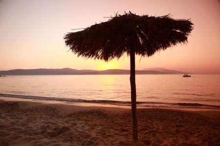 skiathos: Ag Paraskevi beach at sunset, Skiathos, Greece