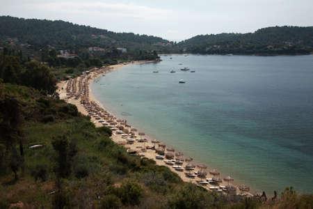 skiathos: Looking down onto Koukounaries beach, Skiathos, Greece