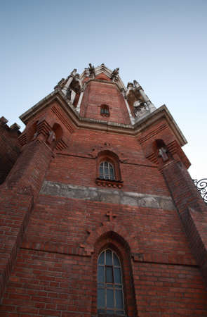 neo gothic: One of the towers of St Joseph Stock Photo