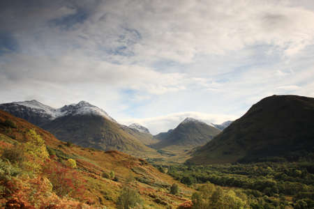 View of the Glencoe Mountains in Scotland