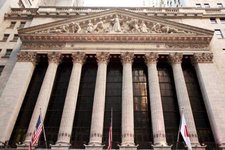 dow: New York Stock Exchange building