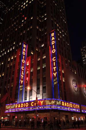music hall: Corner of Radio City Music Hall, New York City  Editorial