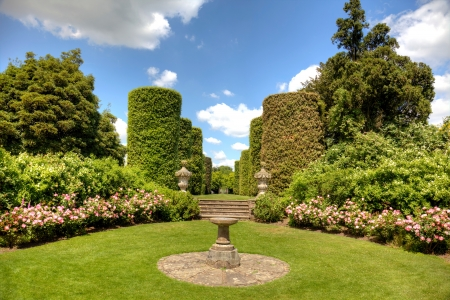 English stately home garden