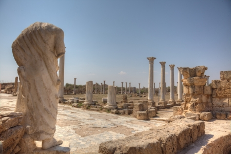 archaeological: Roman archaeological site of ancient city of Salamis in Cyprus