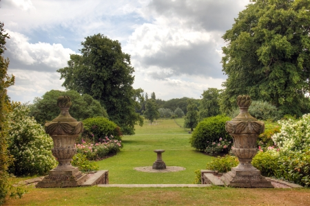 English Country Estate garden view