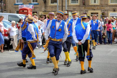 Morris Dancers at the Rushcart Ceremony on the 20th of August, 2011 in Saddleworth, UK  Stock Photo - 16558159