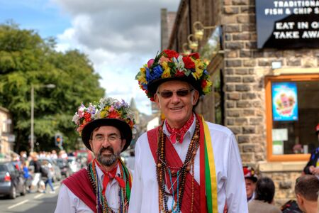 Morris Dancers at the Rushcart Ceremony on the 20th of August, 2011 in Saddleworth, UK