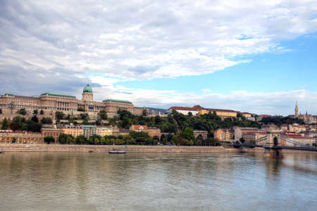 Royal palace and historic buildings in Buda part of Budapest