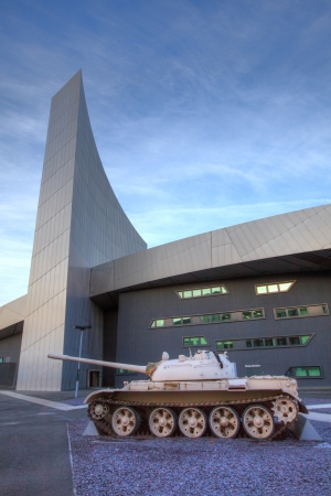 Impeial War Museum at Salford Quays, Manchester, UK Stock Photo - 17326686