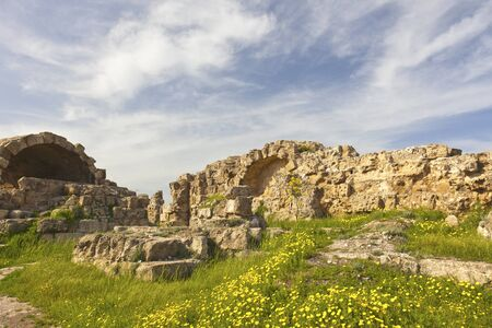 Roman archaeological site of ancient city of Salamis near Famagusta in Cyprus photo