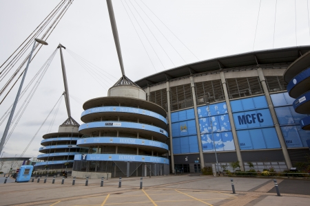 premier league: MANCHESTER, UK - April 21: Etihad stadium is home to Manchester City English Premier League  football club,  one of the most successful clubs in England.  Manchester April 21, 2013. Editorial