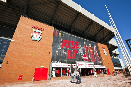 premiership: Anfield stadium is home of Liverpool Football Club one of the most successful English Premier League football clubs