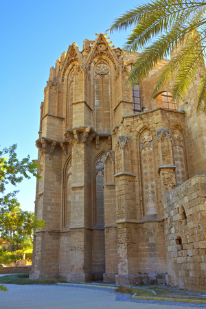 mustafa: Lala Mustafa Pasha Mosque also St  Nicholas Cathedral in Famagusta, Cyprus  Stock Photo