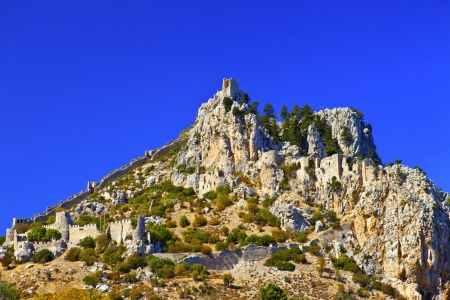 st hilarion: St  Hilarion Castle in Kyrenia, North Cyprus  Editorial