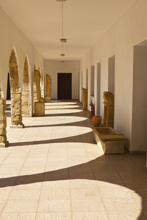 barnabas: Arches at the courtyard of St Barnabas Church in Northern Cyprus