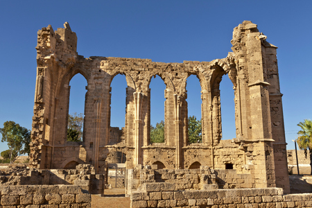 The Gothic ruins of the Church of St John in Famagusta  Gazimagusa  in Cyprus  photo