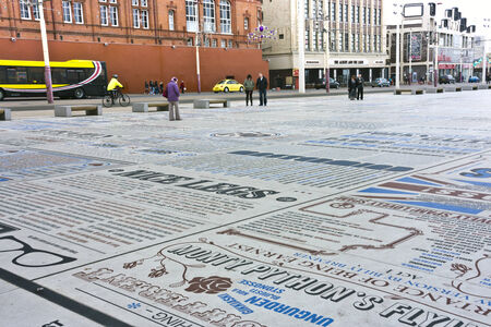 The comedy carpet one of Britain s largest pieces of public art immortalising the UK s favourite comedians and comic writers adorns the new Festival Headland