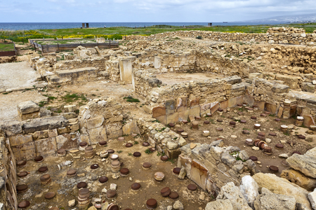 The Archaeological Helenistic and Roman site at Kato Paphos in Cyprus