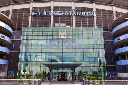 Etihad stadium is home to Manchester City English Premier League football club, one of the most successful clubs in England  Editoriali