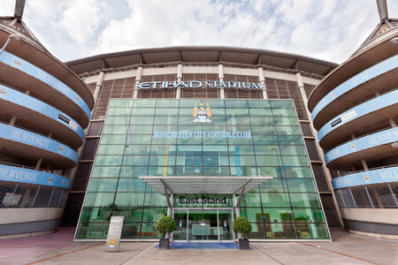Etihad stadium is home to Manchester City English Premier League football club, one of the most successful clubs in England  Publikacyjne