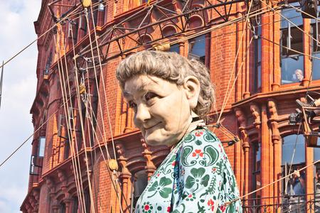 part of me: Los gigantes marionetas de calle Royal De Luxe en Liverpool para Memorias de 1914 - un evento en la ciudad como parte de las conmemoraciones del centenario de la Primera Guerra Mundial