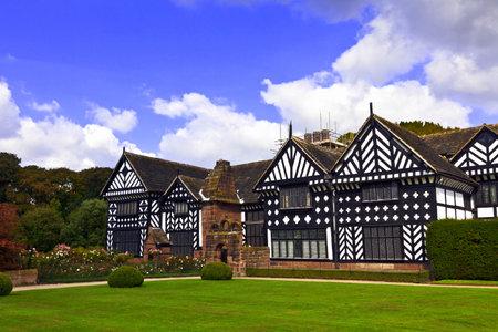 Historic Tudor manor house in Speke, Liverpool, England.