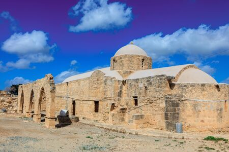 guiding: Ancient church of Panagia Odigitria (the Guiding Blessed Virgin Mary) in Cyprus. Stock Photo