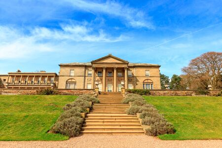 stately home: Historic English Stately Home and park in Cheshire, UK.