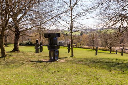 The Family of Man, a group of 9 individual bronze sculptures was one of Barbara Hepworths final works, completed in 1970 exhibited in YSP.