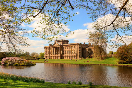 stately home: Lyme Hall historic English Stately Home and park in Cheshire, England.