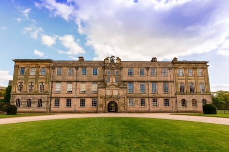 stately: Lyme Hall historic English Stately Home and park in Cheshire, England.
