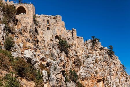 st hilarion: The Saint Hilarion Castle in North Cyprus. Stock Photo