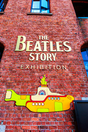 the beatles: LIVERPOOL, UK - AUGUST 18, 2016: The Beatles Story is a visitor attraction dedicated to the 1960s rock group The Beatles in Liverpool. Editorial