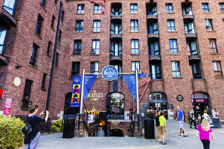 britannia: LIVERPOOL, UK - AUGUST 18, 2016: The Beatles Story is a visitor attraction dedicated to the 1960s rock group The Beatles in Liverpool. Editorial