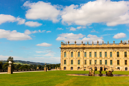 masonary: Historic English Stately Home in Derbyshire.