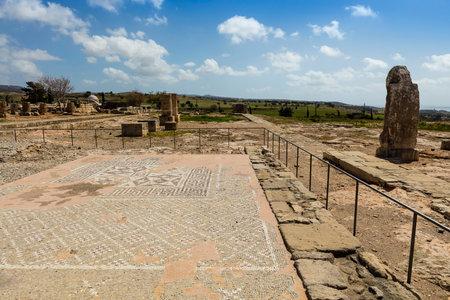 aphrodite: Los antiguos mosaicos y columnas son las partes conservadas del santuario de Afrodita en Kouklia, Chipre.