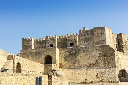The Castle of Guzman El Bueno in Tarifa, Spain originally built as an alcazar (Moorish fortress).