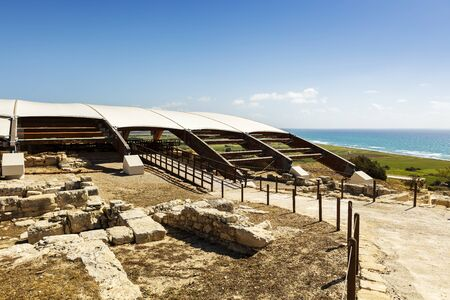 The archaeological remains of Kourion city-kingdom destroyed in a severe earthquake in 365 AD. Editorial