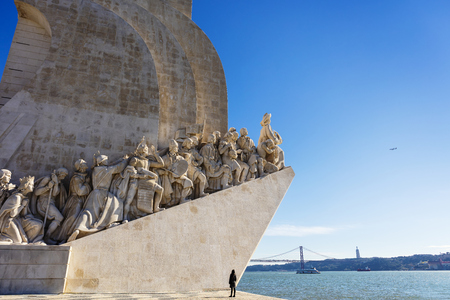 Monument of the Discoveries in Belem area of Lisbon, Portugal.