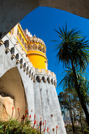 The Royal Palace of Pena, or Castelo da Pena as it is more commonly known, Portugal, Sintra.