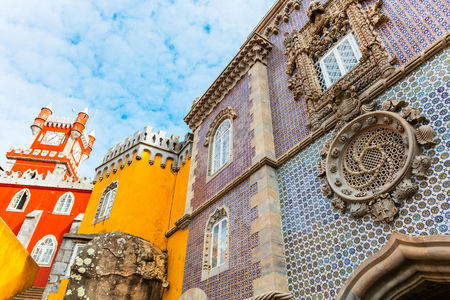 The Royal Palace of Pena, or as it is also known Castello da Pena. Stock Photo