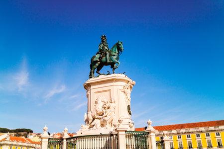 The equestrian bronze statue of Joseph I of Portugal was designed by Machado de Castro in 1775.