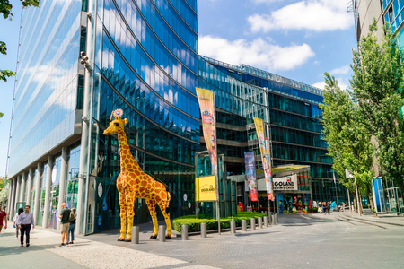 BERLIN, GERMANY - June 11, 2018: Modern building of Legoland Discovery Centre in Berlin, Germany.