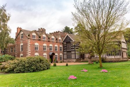 Timber framed Elizabethan mansion in North England.