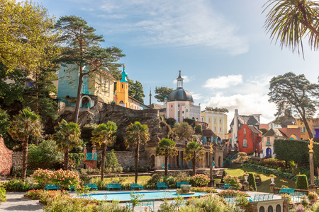 The Italianate village built by Clough Williams-Ellis. Stock Photo