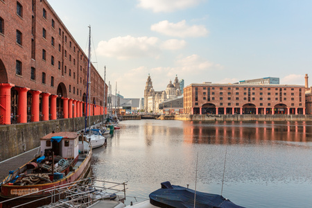 LIVERPOOL, UK - August 8, 2016: The Royal Albert Dock is on of the tourist attractions in Liverpool. Editorial