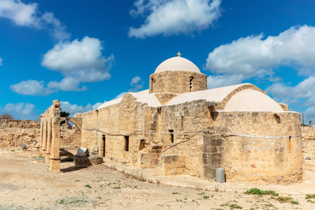 Ancient 12th century church of Panagia Odigitria (the Guiding Blessed Virgin Mary) in Cyprus.